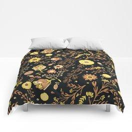Golden Florals Comforters