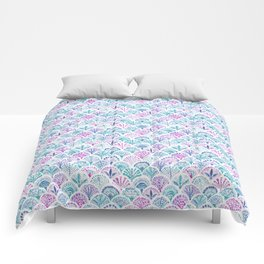 SHELL OUT Boho Mermaid Scales Comforters