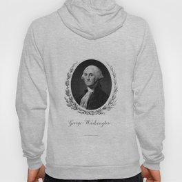 Engraving and anonymous portrait of George Washington Hoody