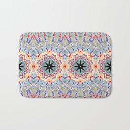 Multi Turquoise Mandala Pattern Design Badematte