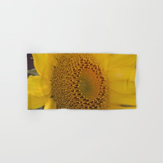 Sunflower close up Hand & Bath Towel