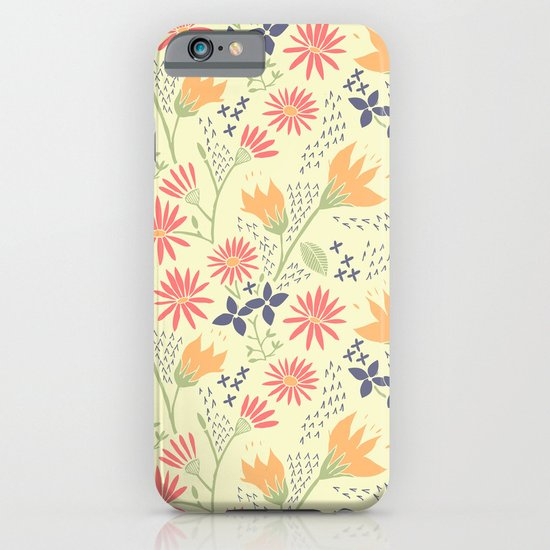 Autumn Floral Pattern iPhone & iPod Case