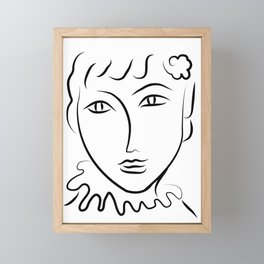 Abstract Face Sketch Framed Mini Art Print