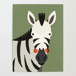 Zebra, Animal Portrait Poster