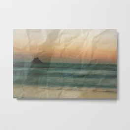 Paper Sunset Metal Print