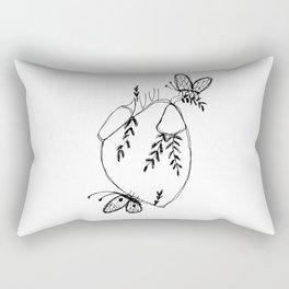 Heart & Butterflies Rectangular Pillow