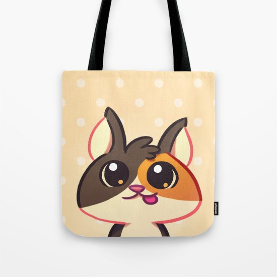 Curious Kitty Cat Tote Bag