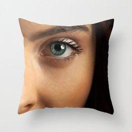 Woman's Eye Throw Pillow
