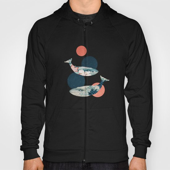 Whales and Polka Dots Hoody