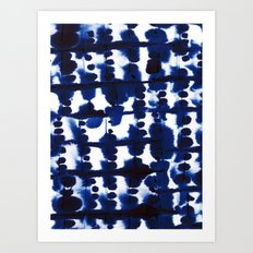 Parallel Indigo Art Print