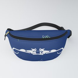Cats of Leisure | Navy • Green Fanny Pack
