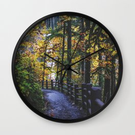 Glowing Yellow vertical Wall Clock
