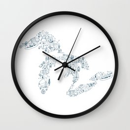 Great Lakes Up North Collage Wall Clock