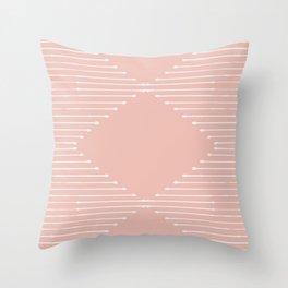 Geo / Blush Throw Pillow
