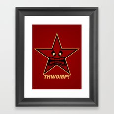 Obey Thwomp! Framed Art Print