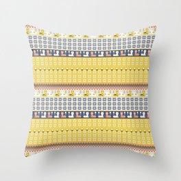 Fair Isle Christmas Alpaca Pattern Throw Pillow
