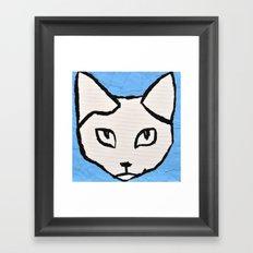 Light Blue Kit head Framed Art Print