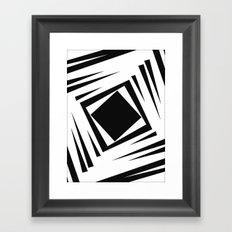 Downward Spiral Framed Art Print
