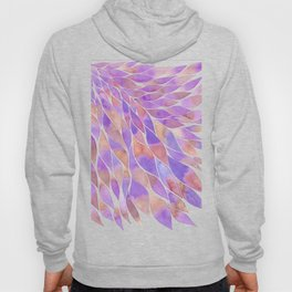Pink and purple feathers palette Hoody