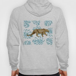 LEOPARD AND LEAVES Hoody