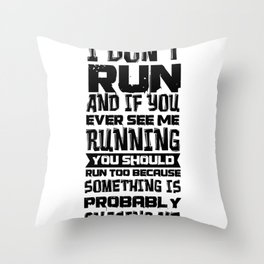 Faul Sport Fitness Sloth Sofa Tired Gift Throw Pillow
