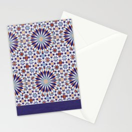 Moroccan Decorative Tiles Pattern Stationery Cards