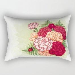 Full bloom   Ladybug carnation Rectangular Pillow