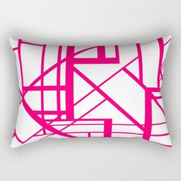 Roadway Of Abstraction - Interstate Abstract Path Rectangular Pillow