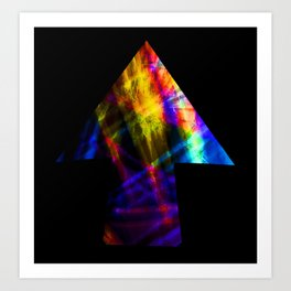 Going Up! Arrow Pointing to the Future Art Print