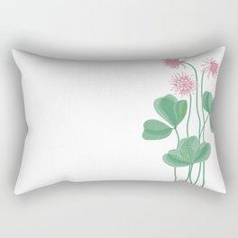 Beautiful clover with pink flowers Rectangular Pillow