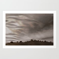 the sky is acting funny Art Print