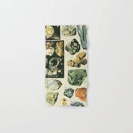Vintage Minerals Chart Hand & Bath Towel