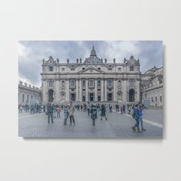 Saint Peters Square, Vatican City, Italy Metal Print
