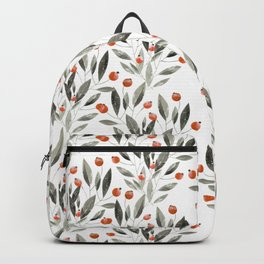 Trendy terracotta gray watercolor floral  Backpack