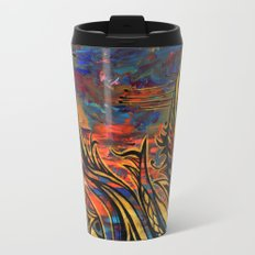 Blue and Gold Travel Mug