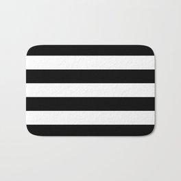 Stripe Black & White Horizontal Bath Mat