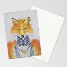 Fox Fur and Pearls Stationery Cards