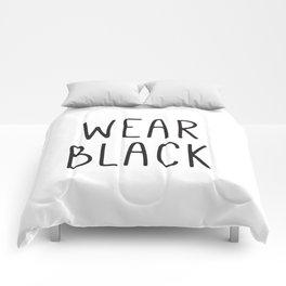 Wear Black, Fashion Prints, Typography Wall Art, Fashion Art Prints, Gift Ideas Comforters