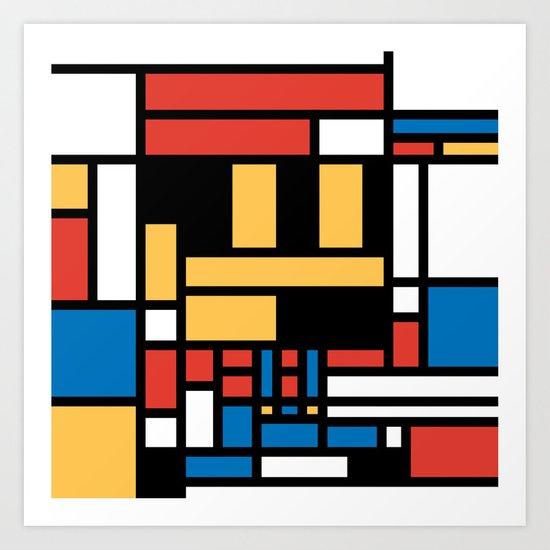 Super Mondrian Art Print