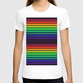 Spectrum - Rainbow Stripes - Colorful - Manafold Art T-shirt