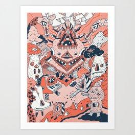 Lif Skogur Art Print