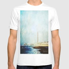 On The Front Textured Fine Art Photograpy MEDIUM White Mens Fitted Tee