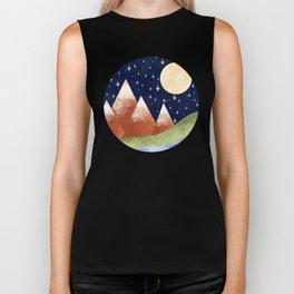 Full Moon In The Mountains Biker Tank