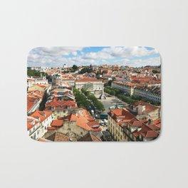 Praca Rossio, Lisbon from Above Bath Mat