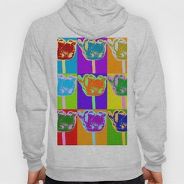 Poster with flower picture in pop art style Hoody