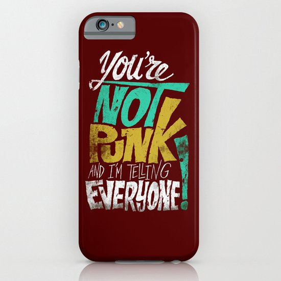 Not Punk iPhone & iPod Case