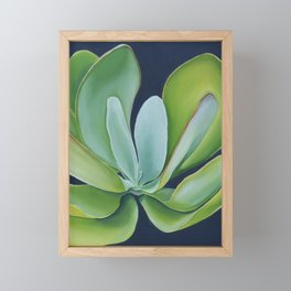Happy Succulent Framed Mini Art Print