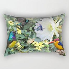Cactus Flower Meeting Rectangular Pillow
