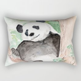 Panda, Hanging Out Rectangular Pillow