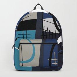 Blue Mid Century Backpack